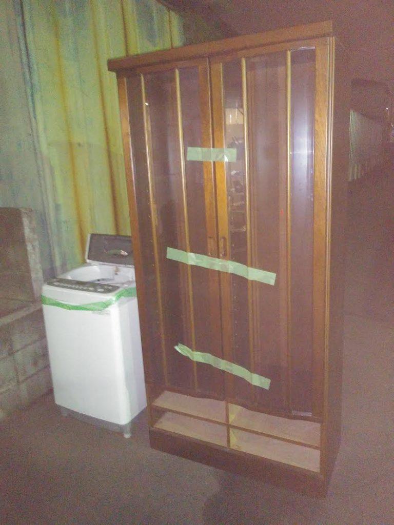 洗濯機、本棚回収